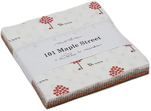 Bunny Hill Designs Lot de 101 carrés de tissu prédécoupés 106 à 12,7 cm