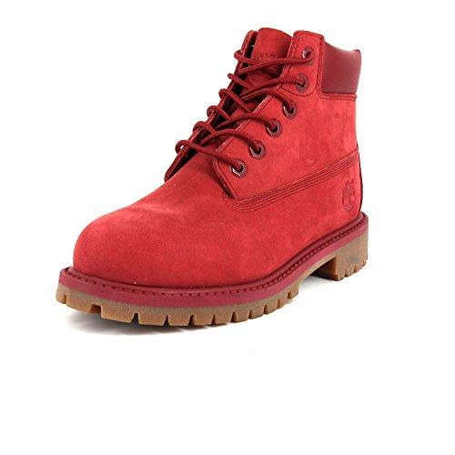Timberland Unisex-Kinder Waterproof Klassische Stiefel, Rot