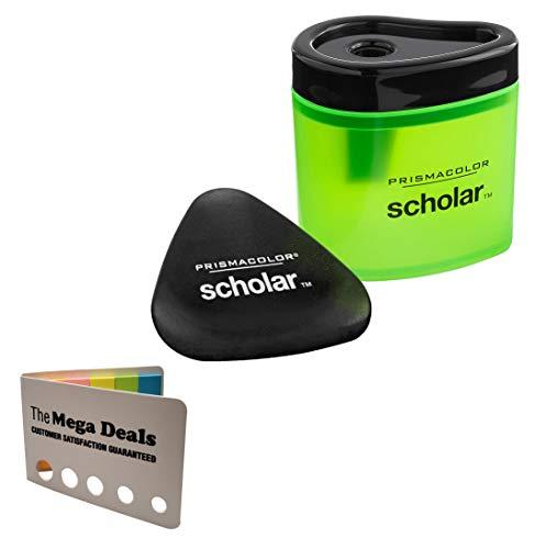 Prismacolor Scholar Pencil Sharpener and Latex-Free Eraser Bundle   5 Color Flag Set…
