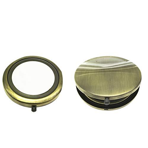 Yunnuopromi - Specchi da trucco a forma rotonda, in tinta unita metallizzata 4#