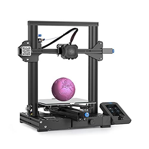 WJP CREALITY Ender-3 V2 Stampante 3D, Supporto consumabili PLA, TPU, PETG Adatto, Dimensioni di Stampa 220 × 220 × 250 mm, Funzione di Stampa Salva/ripristina spegnimento, Basso Rumore