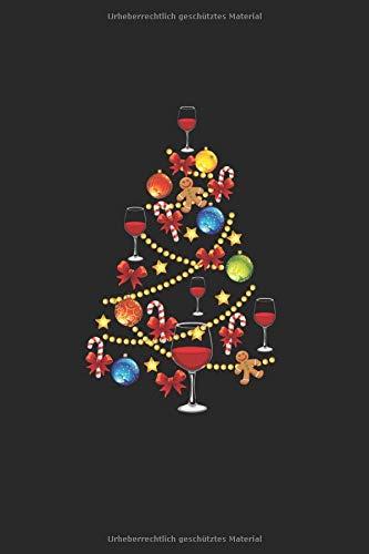 Diabetes Tagebuch: Wein Weihnachtsbaum Alkohol Weihnachten Geschenk Typ 1 & Typ 2, 120 Seiten, 59 Wochen, 6X9 (Ca. A5), Blutzuckertagebuch, Hypertonietagebuch