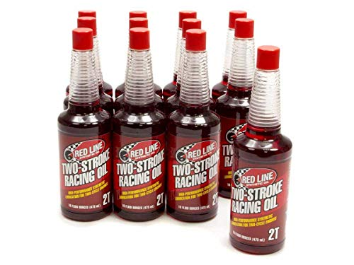 Red Line (40603-12PK Two-Stroke Racing Motor Oil - Motorcycle High-Performance Synthetic Engine...