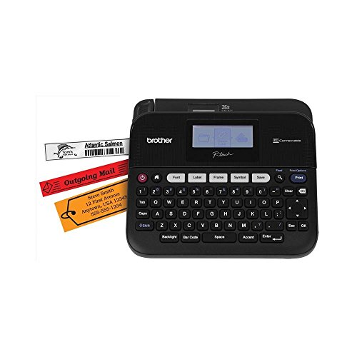 Brother P touch PC Connectable Label Maker With Split Back Tapes and 7 Font Sizes