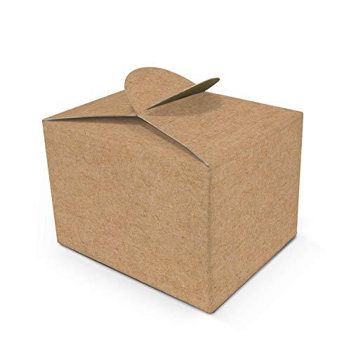 Logbuch-Verlag 25 braune Kraftpapier Geschenkschachteln Geschenkbox Mini Geschenkkarton Gastgeschenk Verpackung Hochzeit Vintage give-away Tischdeko