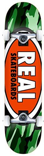 Real Team Oval Camo MD 7.75 - Skateboard completo