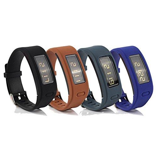 Correa de reemplazo y accesorios, de Honecumi, para reloj inteligente Garmin Vivofit; talla única, Black/ Brown/ Slate/ Navy