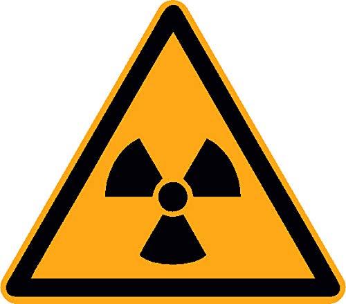 Aufkleber Warnung vor ionisierender Strahlung 12 Stück W003