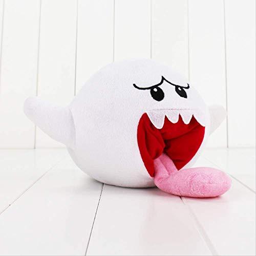 Super Mario Boo Ghost Plüschtier Weißer Geist mit Langer Zunge Gefüllte Puppe für Kinder 15cm Laimi