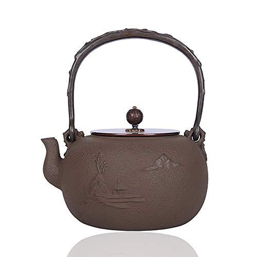 Tetera de hierro fundido Tetera de hierro agua hervida hierro Pot estilo japonés sur de hierro Pot Tetera de hierro fundido de hierro viejo Hervido tetera de 1500 ml de gran capacidad Para té de hojas