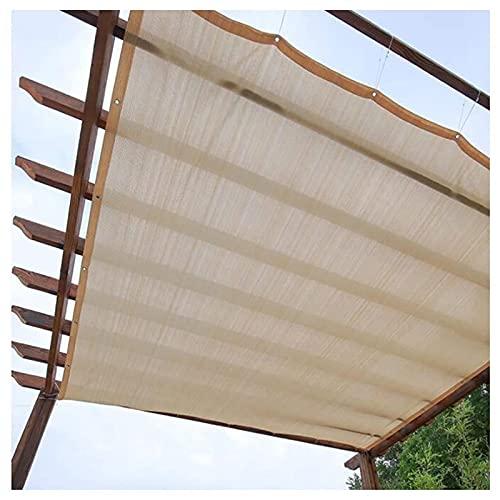 GAOAIHONG Toldo Parasol Vela Rectángulo Malla Sombreo para Terraza Camping Jardín al Aire Libre Transpirable Resistente Color Arena 1m,2m,3m,4m,5m(Size:1x1m)