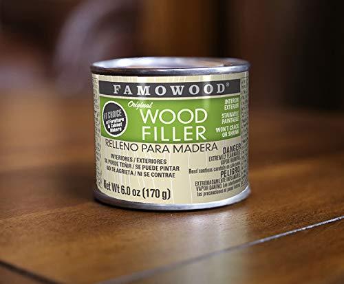 FamoWood 36141134 Original Wood Filler - 1/4 Pint, Red Oak