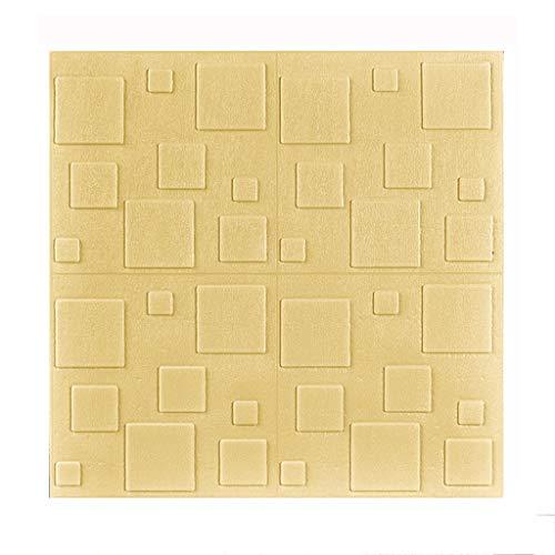 Pkssswd Pegatinas de Pared de Espuma PE Fondo de Pantalla 3D Pegatinas de Pared Masonía en Relieve |Reducción de Ruido |Fácil de pelar |Dormitorio de la Sala de Estar decoración de la Cocina.