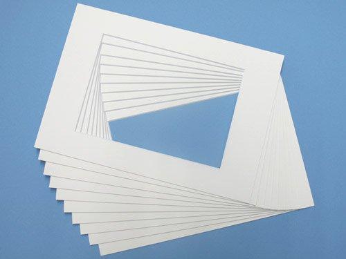 Passepartout Weiss 20 x 30 cm für Ausschnitt 18 x 24 cm - 1 Stück