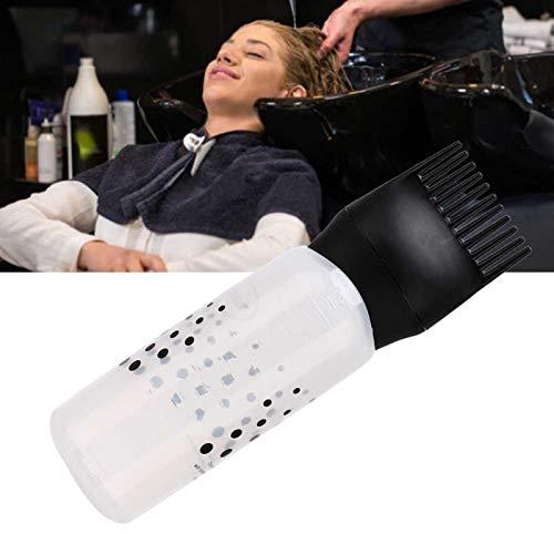 5 Stück 170ml Haarfärbemittelflasche Shampoo mit Kammzähnen, Haarfärbemittel-Farbst, Haarfärbemittel Flasche Pinsel mittel Flasche Pinsel, 5 Stück 170ml...