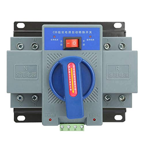 Paullice Transfer Switch-1pcs Mini 63A 2P Interruptor de Transferencia automática de Doble Potencia