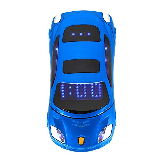 Sports Car Model F15 Mini Flip Phone for Ferrari Car-Shape Phone Flip Mobile Phone Dual SIM Card Phone for Kid, Support SMS, MP3, Camera, Video Playback, Recording, Radio, Bluetooth, Calculator(Blue)