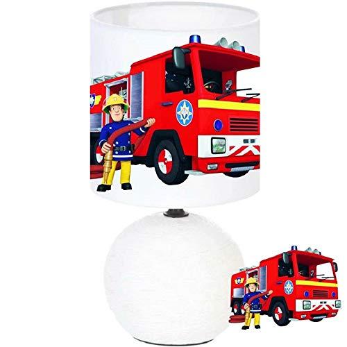 Lampe de chevet Sam le Pompier création artisanale
