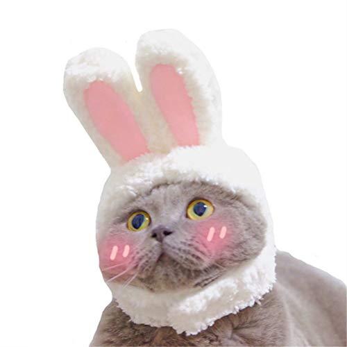 HDDFG Divertida Mascota Perro Gato Gorro Disfraz cálido Conejo Sombrero Fiesta de año Nuevo Accesorios de Navidad Accesorios de fotografía Sombreros