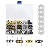 WOWOSS 40 Sets Magnetic Button Clasps Snaps, 18mm Fastener Clasps DIY Craft Sewing Buttons Knitting Buttons Sets for Sewing, Craft, Purses, Bags, Clothes, Leather, 4 Colors