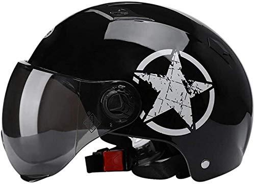 Cascos Moto Abiertos Jet Retro Medio Casco Ciclomotor Street Bike MTB Casco Scooter Certificación ECE con Gafas De Protección Casco Abierto Protección Rayos UV para Hombre Y Mujer