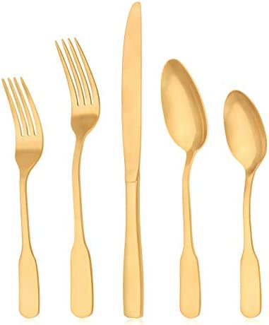 Matte Gold Silverware Set viishow Flatware Set Kitchen Stainless Steel Utensils Tableware Cutlery product image