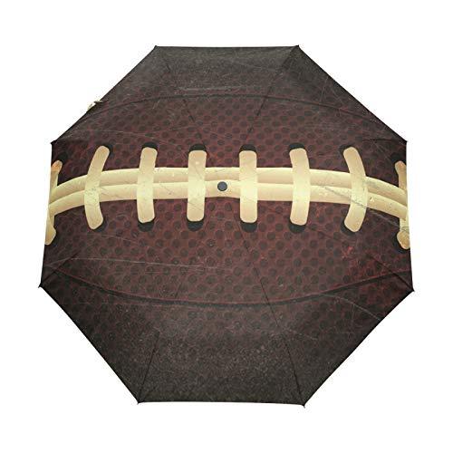 Rugby American Football Regenschirm Taschenschirm Automatische Umbrella Winddichte Sonnenschutz Regenschirme Taschenschirme für Damen Herren