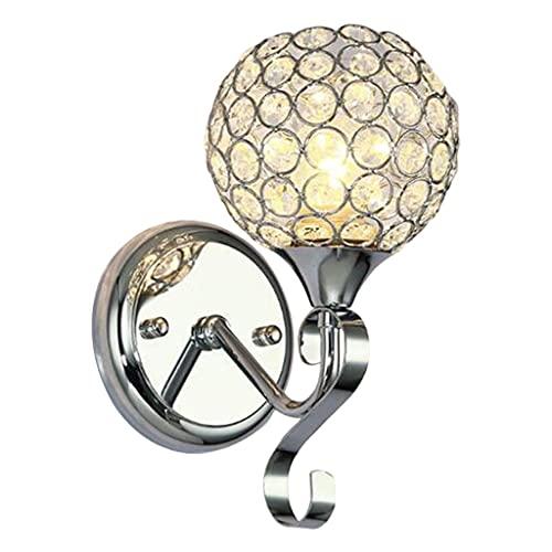 Gazechimp Lámparas de Pared de Cristal de Metal Cristal Moderno Decorativo E26 / E27 Luces de Pared con Base Aplique de Pared Industrial para el hogar Pasillo - Plata