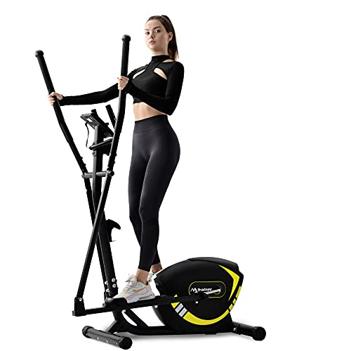 Broadmix Elliptical Trainer Exercise Machine Upright Exercise Bike with 8-Level Magnetic Resistance for Home Gym Cardio Workout