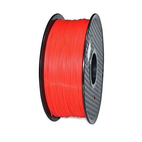 Haute Performance Filament d'impression 3D en PC avec Une précision de 1,75mm ± 0.02mm1kg (Multicolore en Option) Utilisé pour l'imprimante 3D et Le Stylo d'impress (Color : Red)