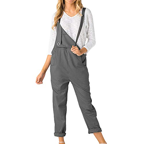 Best Prices! Aniywn Womens Adjustable Strap Overalls Jumpsuit Pants Trousers Casual Loose Sleeveless...