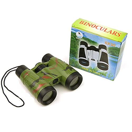 Fun Toys Binoculars for Kids - 6x Kids Binoculars for Bird Watching, HD Travel Binocular Telescope, Small Kids Toys Binoculars for Boys for Hiking, Bird Watching, Best Gifts for 3-12 (green)