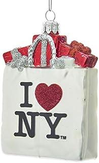 """Kurt Adler """"I Love NY"""" Bag Christmas Ornament"""