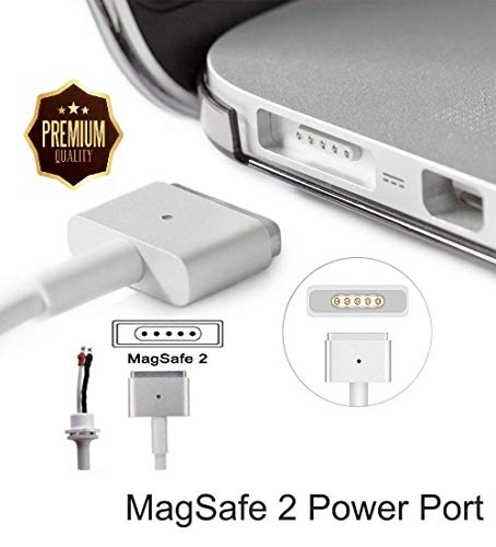 """Maxon's Trade """"T-Tip"""" 45W 60W 85W AC Power Adapter DC Repair Cable Cord """" T """" Connector for Apple MAC MacBook Pro Laptop (for Magsafe2 only)"""