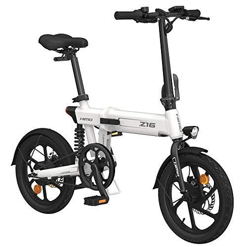 Sunydog Elektrofahrrad HIMO Z16 16-Zoll-Klapp-Servounterstützungs-Moped-E-Bike 80 km Reichweite 10AH Perfekte für Stadt, Pendler, Kurztrip, Shopping und den täglichen Gebrauch