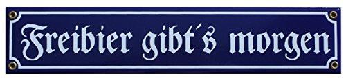 Frei Bier Emaille Schild