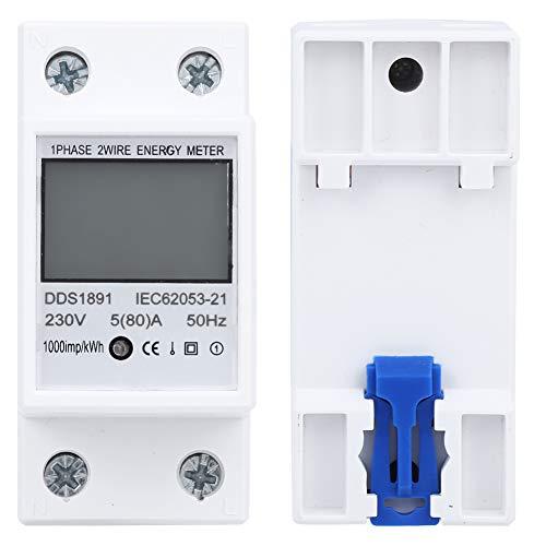 Multifunción sin retroiluminación Pantalla Grande 230V DDS1891 Tecnología microelectrónica Medidor monofásico de...