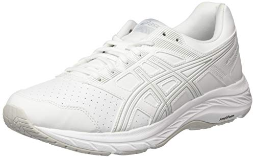 Asics Gel-Contend 5 SL, Sneaker Mujer, White/Glacier Grey, 37 EU