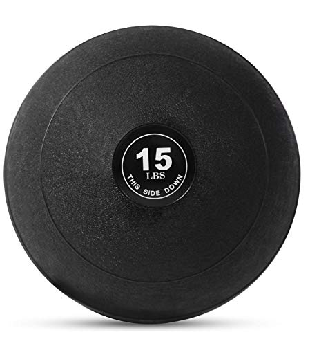 Weighted Slam Ball by Day 1 Fitness – 15 lbs - No Bounce Medicine Ball - Gym Equipment Accessories for High Intensity Exercise, Functional Strength Training, Cardio, CrossFit