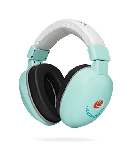 Lucid Audio HearMuffs Baby Hearing Protection (Over-The-Ear Sound Protection Ear Muffs Infant/Toddler/Child) (Spa Green), One Size