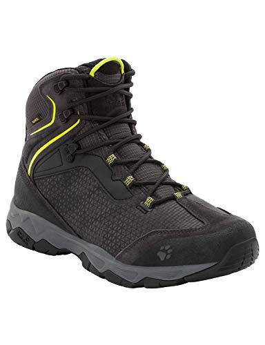 Jack Wolfskin Herren Rock Hunter Texapore Mid Trekking- & Wanderstiefel, Grau (Lime Green 4170), 45 EU