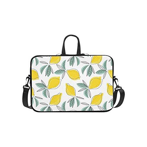 15.6″Lightweight Laptop Notebook Shoulder Backpack Bag Bright Juicy Lemons Waterproof PC Briefcase Messenger with Strap