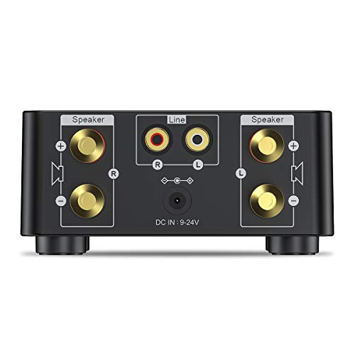 Bluetooth5.0Miniパワーアンプ初心者デジタルアンプ5種の入力超軽量50W×2大出力D種類音楽プレーヤーHI-FIオーディオアンプ超小型ステレオDC9V-24V電源入力LED液晶ホーム車RCA/AUX/USBメモリー/BT5.0/TFカード/電源アダプタ付属/日本語説明書付き(ブラック)