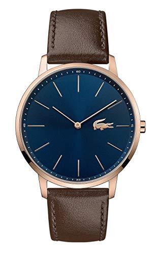 Lacoste Herren Analog Quarz Uhr mit Leder Armband 2011018