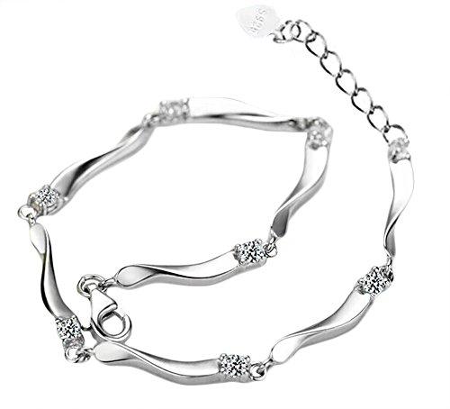 Demarkt Damen Armkettchen Armbänder Armkette Armschmuck Silber 17+3CM