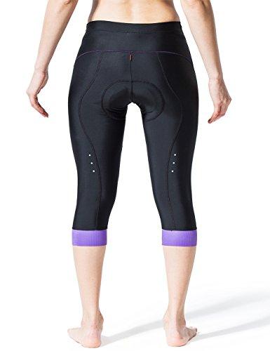 Souke Sports Damen 3/4 Radlerhose 4D gepolstert Atmungsaktiv Quick-Dry Fahradhose Damen Gepolstert 3/4 Radsport Hose - 2