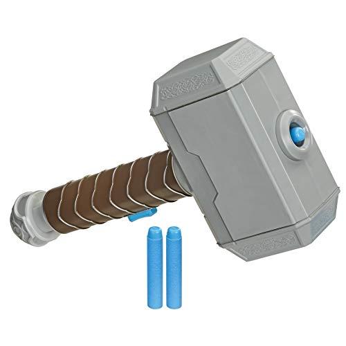 Hasbro Hasbro E7379EU4 Power Moves Marvel Avengers Thor Power Hammer, NERF Dart-Abschuss Spielzeug für Kinder, Rollenspiel, Spielzeug für Kinder ab 5 Jahren