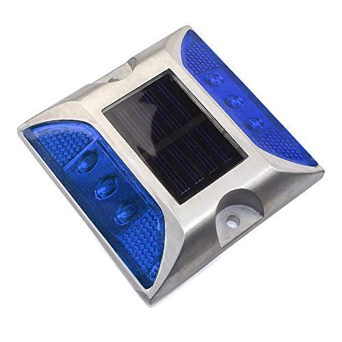 SUNERLORY Luci solari Esterne da Ponte, 6 luci a Terra a LED, Luce di Avvertimento per la Sicurezza del Traffico sul Percorso del Giardino del marcato