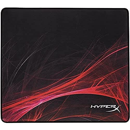 HyperX FURY S Speed Edition - Mousepad profesional para gaming, grande - superficie optimizada para velocidad, costura antidesgaste 450x400x4mm (HX-MPFS-S-L)