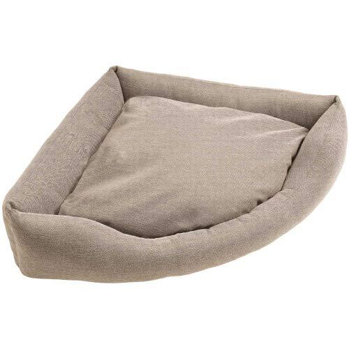 HUNTER Livingston gezellige hondenhoekbank, ideaal voor kleine ruimtes, Medium, beige